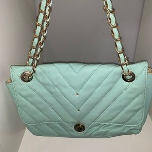 Super cute teal and Gold purse